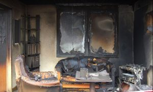 fire & smoke damage restoration and cleanup in Albuquerque, NM by ServiceMaster of Albuquerque and West Mesa soot from fire damage