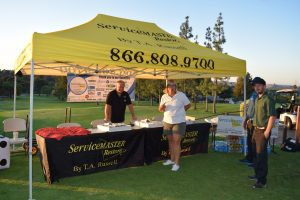 Water Damage Restoration ServiceMaster owner T.A. Russell golf fundraiser tent