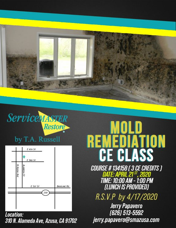 mold remediation CE Class by ServiceMaster by T.A. Russell