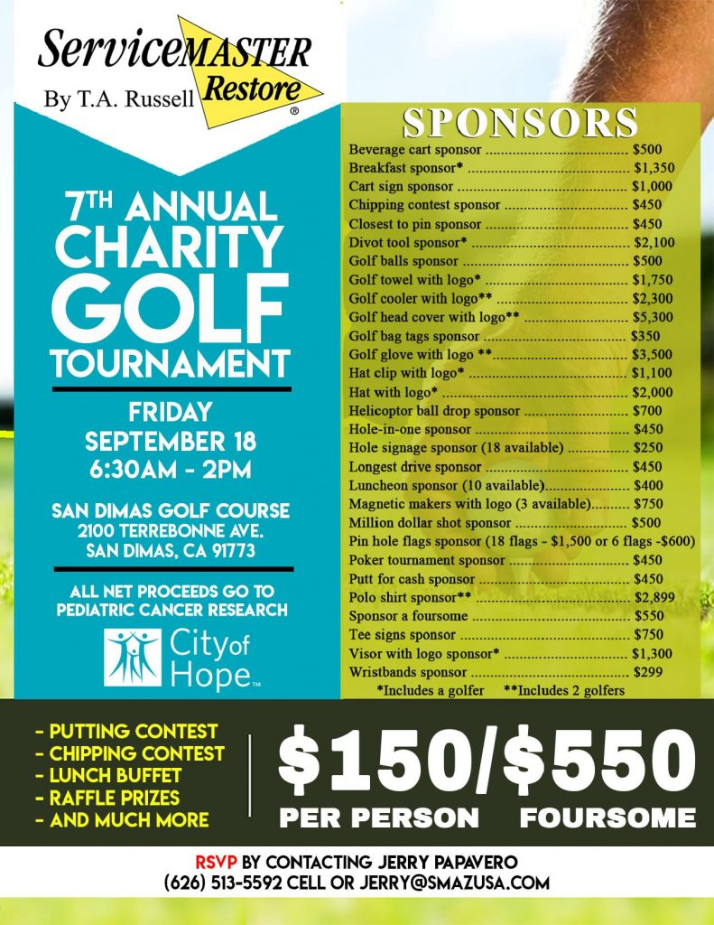 7th Annual Charity Golf Fundraiser for City of Hope