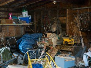 Hoarding in a garage in Derry, NH