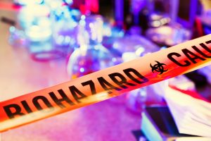 biohazard cleaning tape across a crime scene in duluth, mn by Dryco Restoration Services
