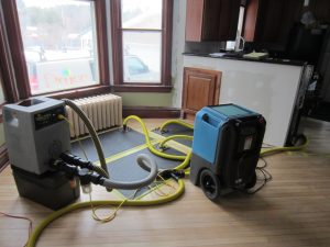 water damage cleanup and restoration taking place in Duluth, MN