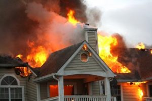 fire damage restoration in Duluth, MN will be needed for this house, once the fire is put out.