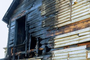 burnt house after fire
