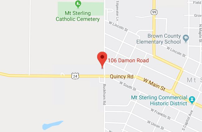 map view of ServiceMaster Cleaning and Restoration in Mt. Sterling, IL