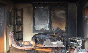 burned room