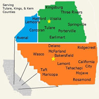 ServiceMaster by Benevento CA - Service Map