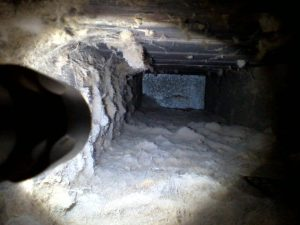 a very dirty air duct that needs air duct cleaning in Levittown, PA by ServiceMaster TEAM
