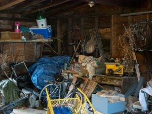 Hoarding Cleaning is needed in this Nashua, NH garage