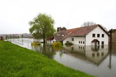 flooded school
