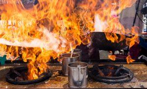 Fire In Kitchen