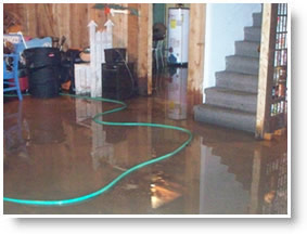 water damaged basement in Rochester, NY