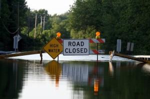 Flash flood damage in Atlanta GA