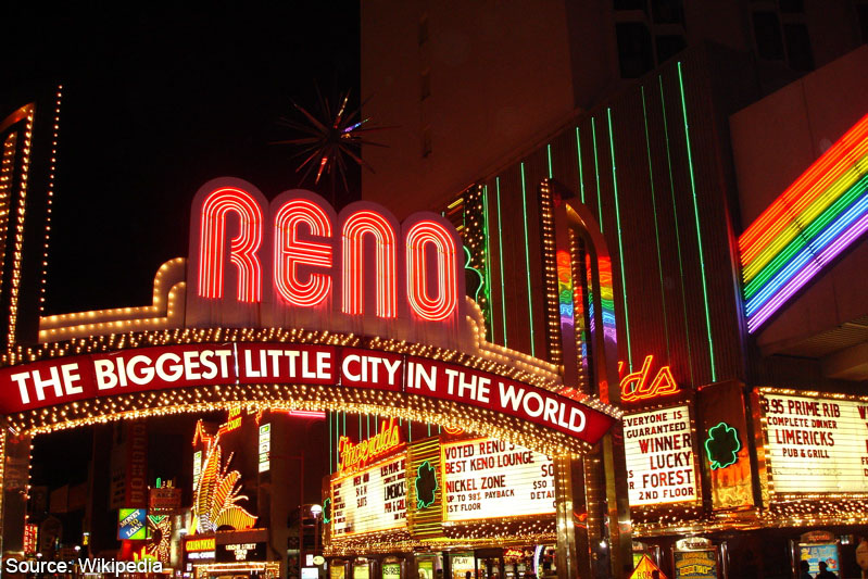 The Reno Arch in Reno NV