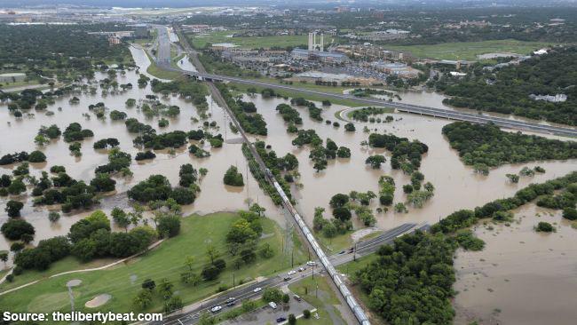 San Antonio TX Flooded
