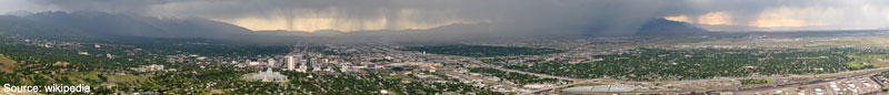 Panoramic Salt Lake City Weather Rain Storm
