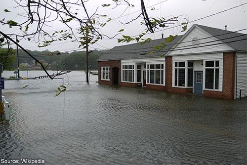 House suffers flood damage
