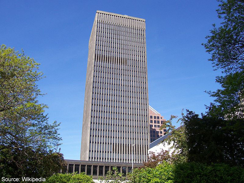 The tower of Xerox Rochester NY