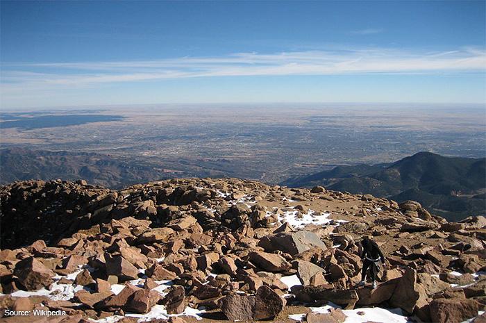 Colorado Springs from Pikes Peak
