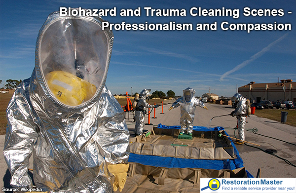Biohazard and trauma cleaning suit