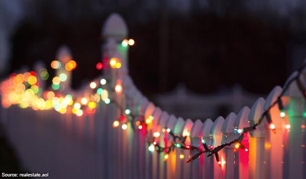 Christmas Light on a fence