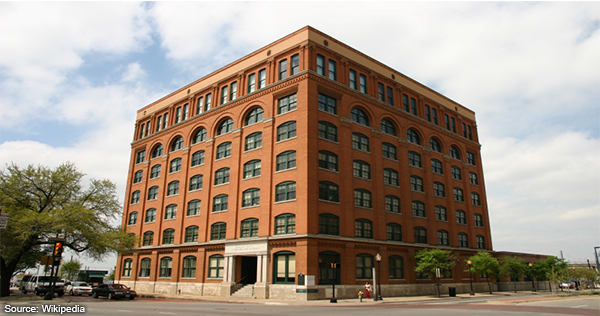 The former Texas School Book Depository: