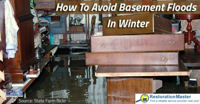how to avoid basement floods in winter