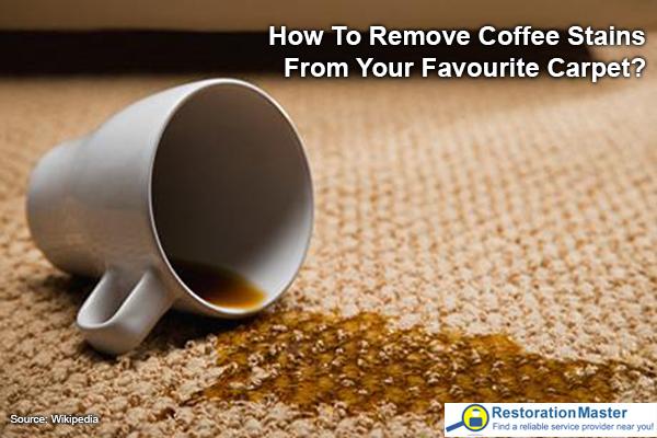 Coffee stins on a carpet