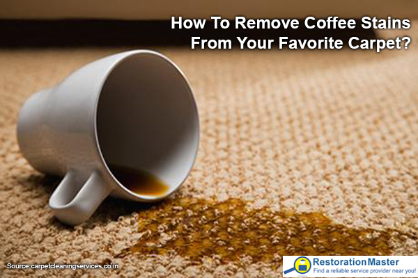 Coffee stains on a carpet