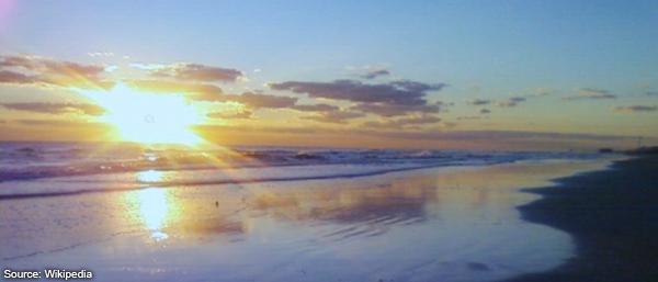 Sunrise over Daytona Beach Florida