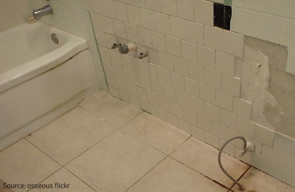 Water Under Bathroom Floor. Damaged Floors