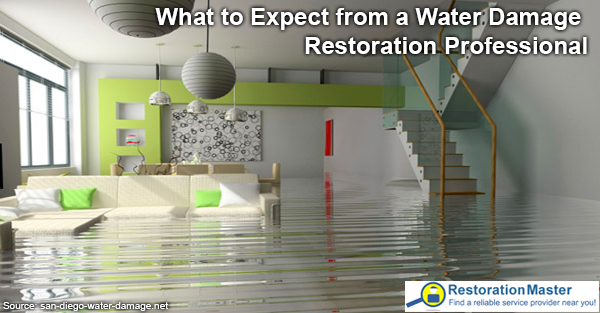 House suffering water damage restoration