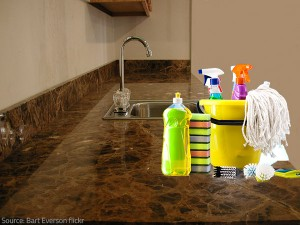 Get hold of proper cleaning materials and get to work!