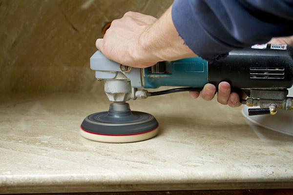 Specific equipment is required for professional marble polishing.