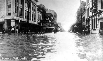 Flooding from Hurricane, Galveston 1915