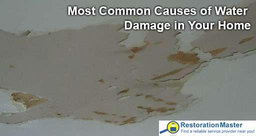 Most common causes of water damage in your home