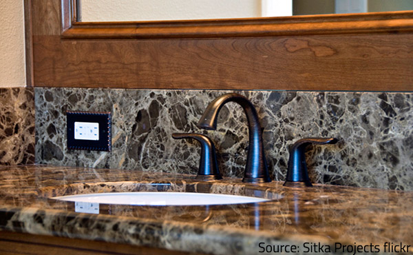 Honed granite competes with polished marble for the most popular type of natural stone finish.
