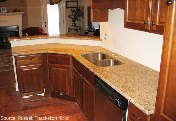 Polished and honed countertop finished are the most widely prefered ones.