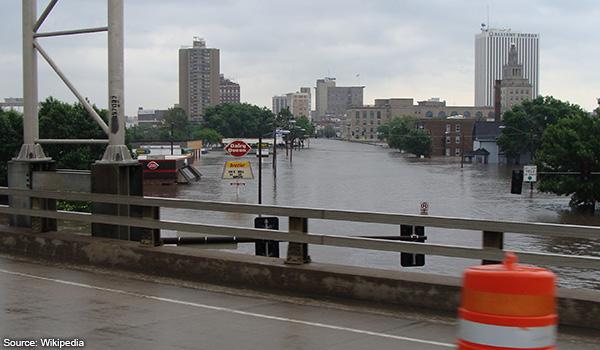 FLooding in Iowa, US