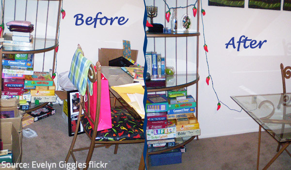 Decluttering will transform the look and feel of your home.