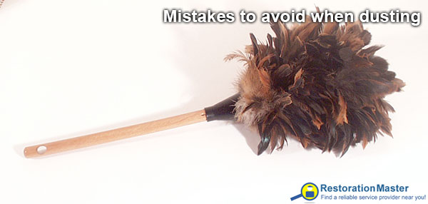Mistakes to avoid when dusting