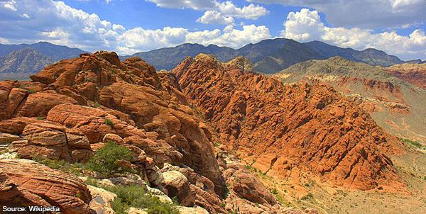 Calico basin red rock cumulus mediocris Las Vegas NV