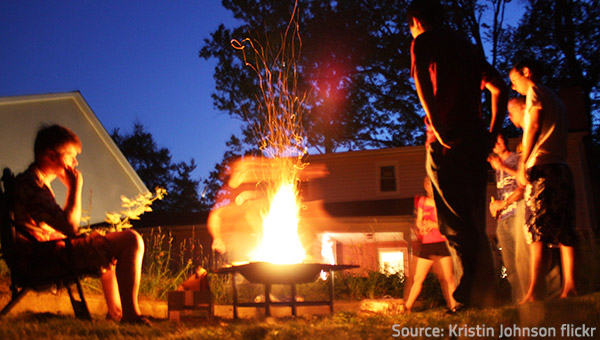 Open Fires Are Associated With Joy And Festivity.