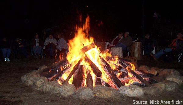 Bonfires are intended for larger celebrations.