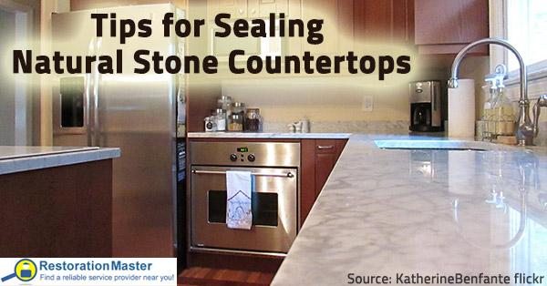Tips for sealing natural stone countertops.