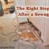 Learn what to do after a sewage backup.