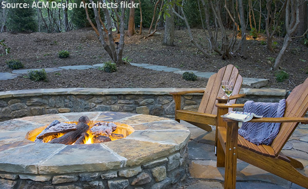 Stone fire pits are cheap and safe, not to mention their natural appeal.
