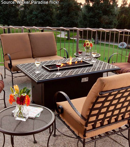 Fire pit tables are very stylish and really safe.