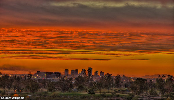 Phoenix sunset from Papago Park – 2010